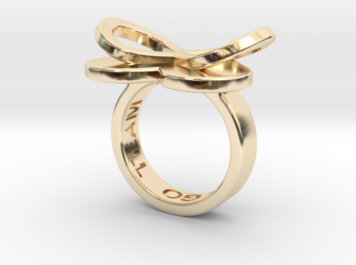 AMOUR in 14k gold 3d printed