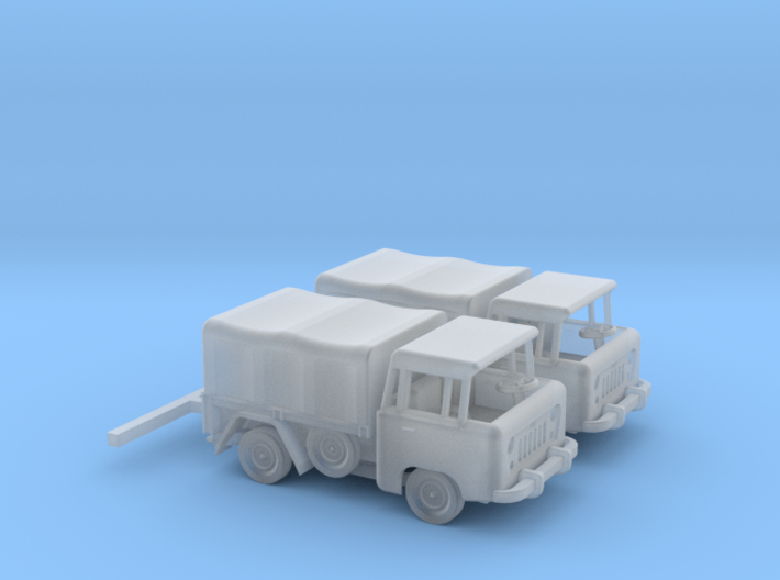 1959 FC150 Pickup Truck with Canvas Top (x2) 3d printed