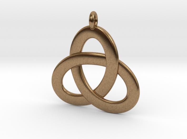 2.5D Open Triquetra Pendant 4.5cm 3d printed
