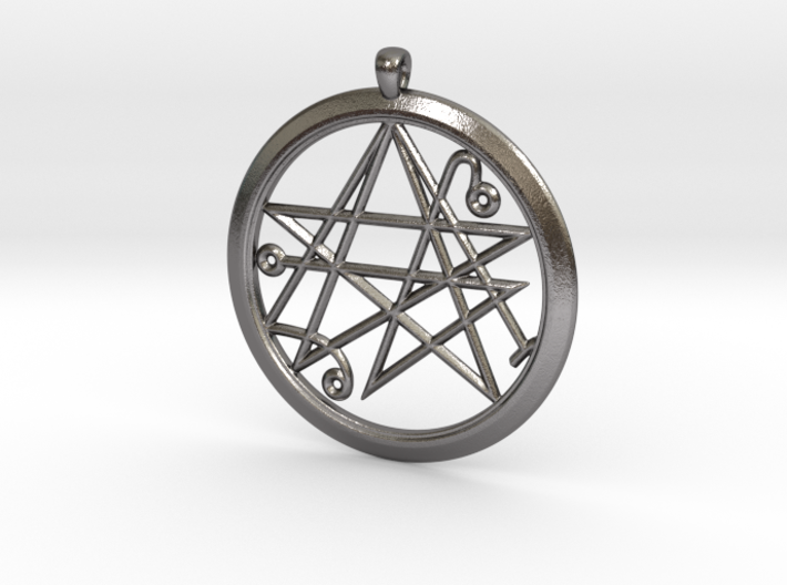 Sigil of the Gates Pendant 4.5cm 3d printed