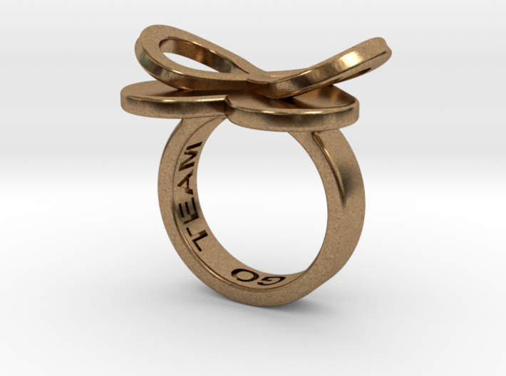 AMOUR in raw brass 3d printed
