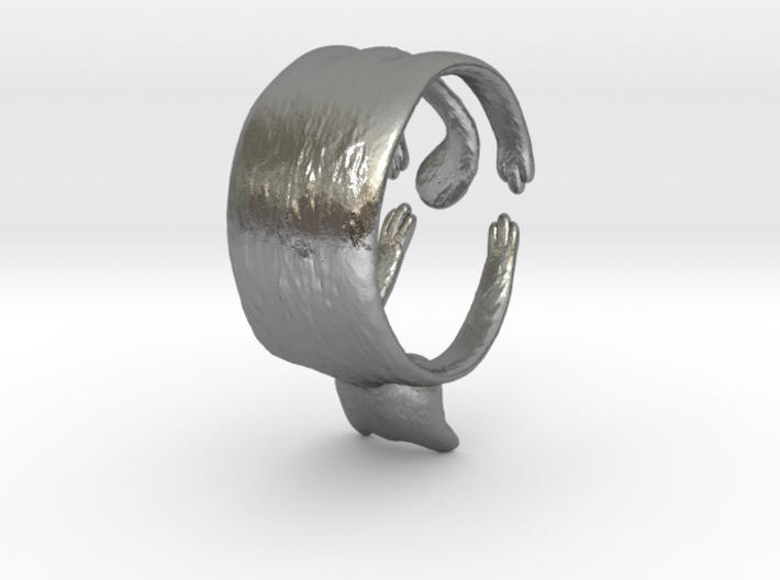 Cute Cat Ring 3d printed