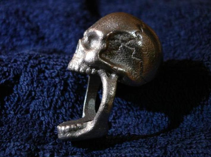 Skull Ring size 11 3d printed Side