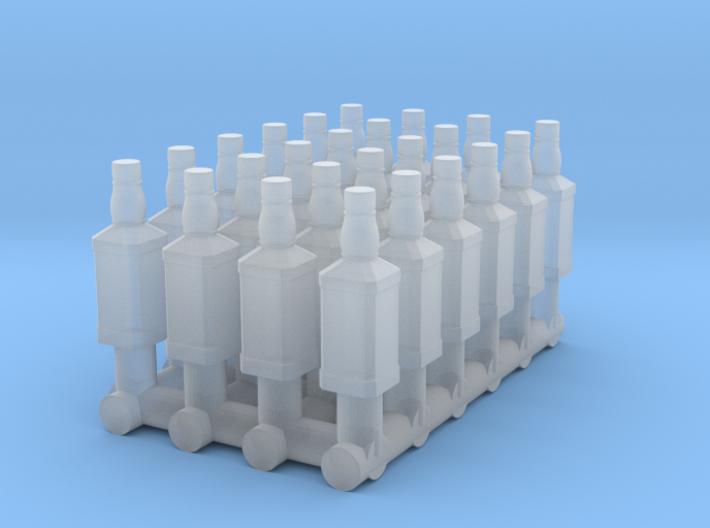 1:64 Whiskey Bottles 3d printed