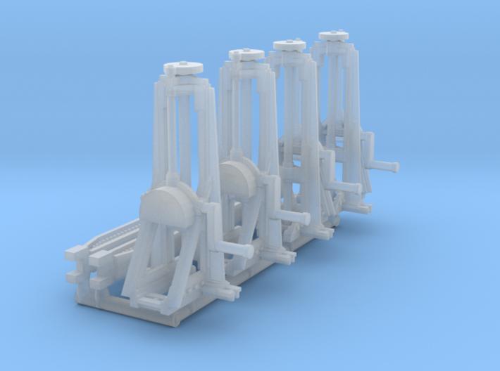 4 Hebeböcke mit 2 Träger (N 1:160) 3d printed