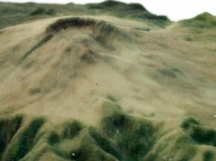 Full Color Mt. St. Helens Model 3d printed printed object - crater closeup 1