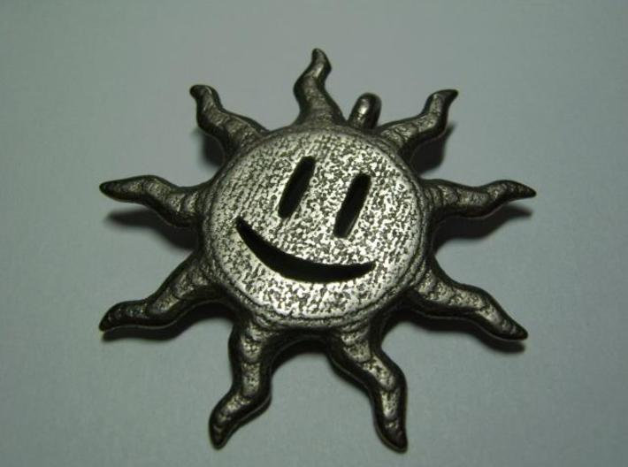 Smiling sun pendant 3d printed Face 1