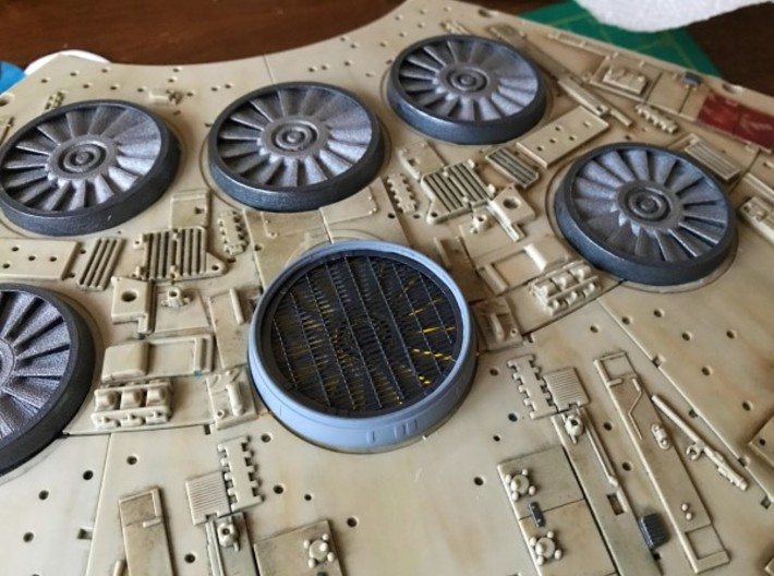 Deago Falcon Engine Vents & Fan Blades Magnetic b 3d printed