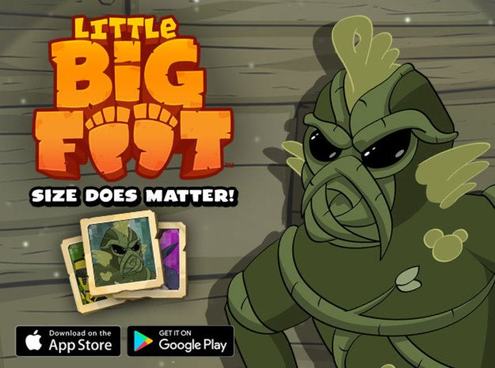 Little Swamp Monster 3d printed Download Little Bigfoot for Free!