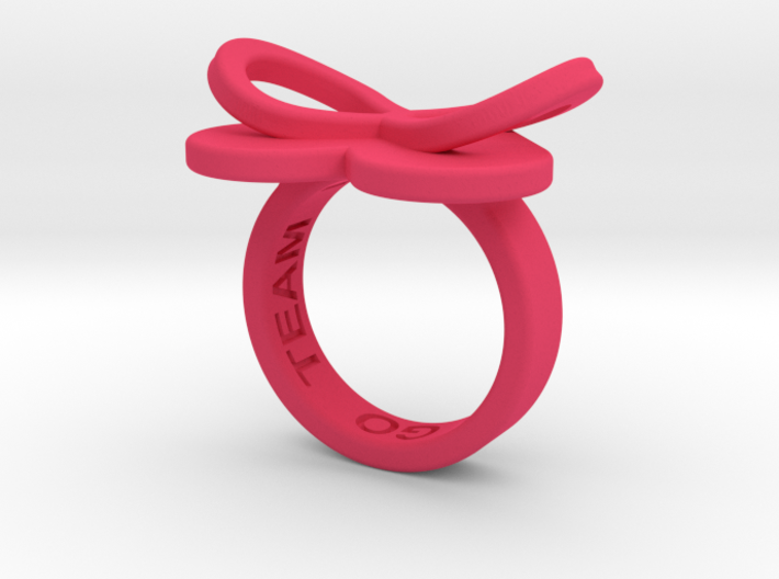 AMOUR in pink polished plastic 3d printed