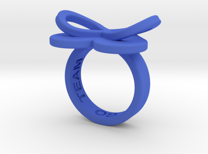 AMOUR in blue polished plastic  3d printed