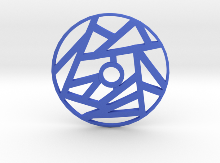 Drop Spindle Whorl--Linear 3d printed