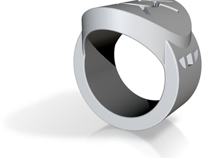Orange Avarice FF Ring Sz 5 3d printed