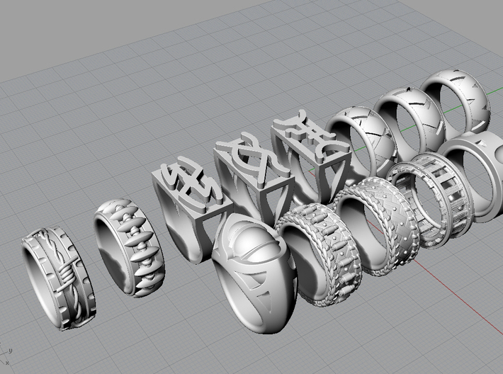 Eagle's Claw Ring - Size 9 1/2 (19.35 mm) 3d printed All rings in the Western Collection.