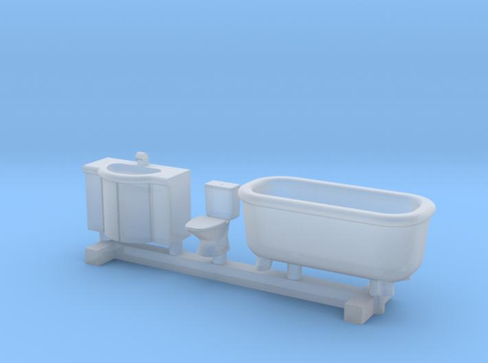 N Scale Bathroom Interior 3d printed
