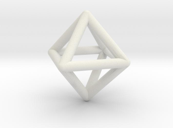 Octahedron Triangular Pyramid Pendant 3d printed