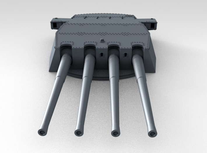 """1/600 HMS King George V 14"""" Turrets 1942 3d printed 3d render showing product detail (A Turret)"""