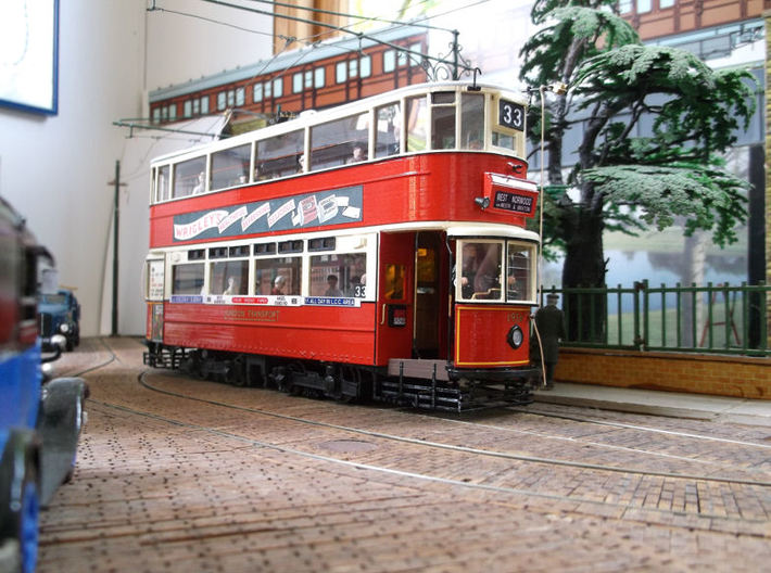1:43 London Transport E/3 Tram - Part 1 3d printed . Model built by Terry Russell.Model shown is not built with Shapeways material.