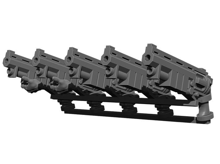 Revolver Rifle Weapons Pack 3d printed