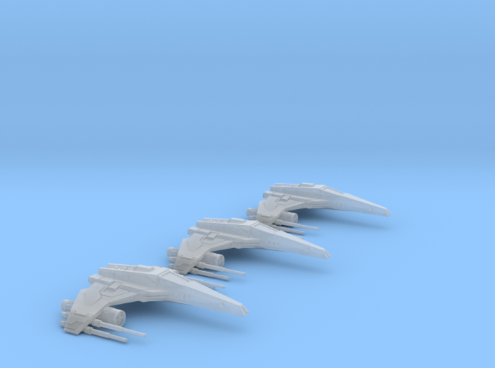 E-wing Variant - Quad Cannon 3pack  NXU 1/270 3d printed