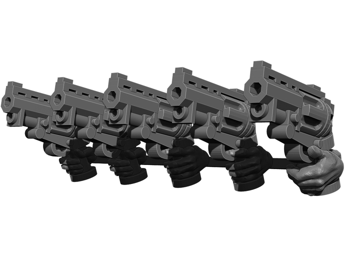 Revolver Pistol Weapons Pack 3d printed