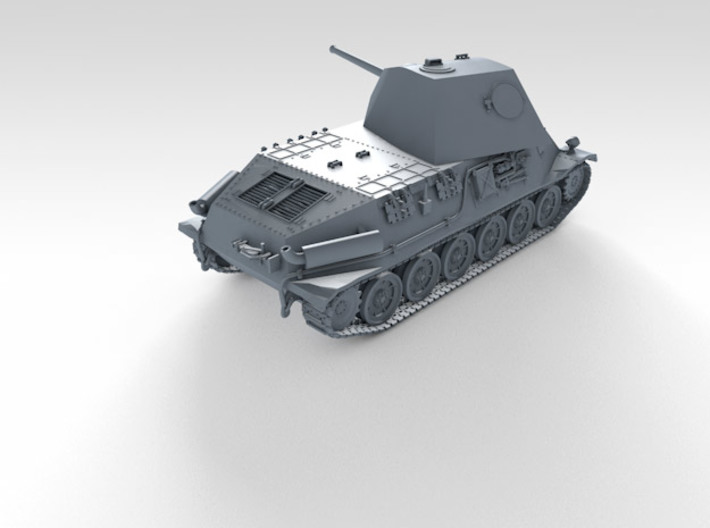 1/72 German Pz.Kpfw. T25 Medium Tank 3d printed 3d render showing product detail