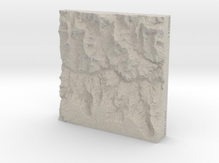 4'' Grand Canyon, Arizona, USA, Sandstone 3d printed