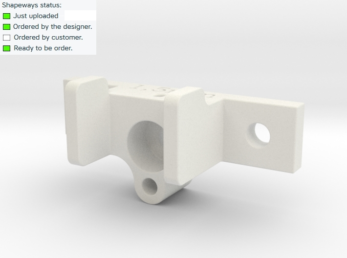 RC Servo holder type B 3d printed