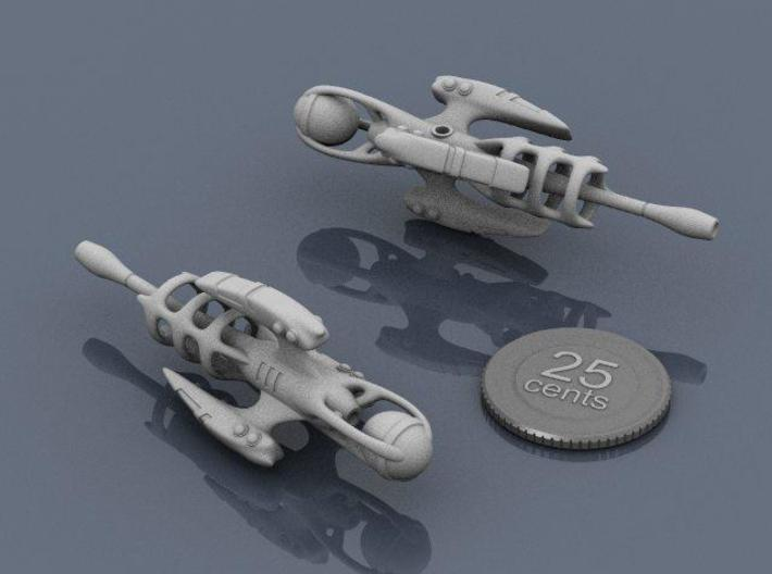 Alien Artifact 1 3d printed Renders of the model, with a virtual quarter for scale.