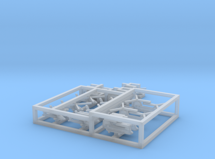 HMS Ocean Aviation Set, 16pc, 1/1800 3d printed