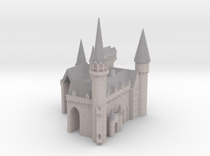 1/720 Hogwarts - Courtyard 3d printed