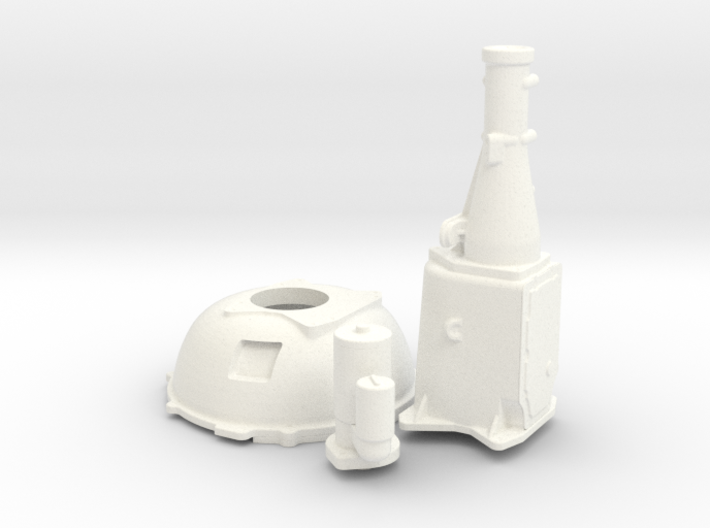 1/16 Ford 427 Side Oiler Bellhousing And Tranny 3d printed