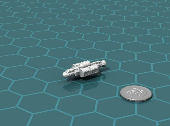 Chukulak Trader 3d printed Render of the model, with a virtual quarter for scale.