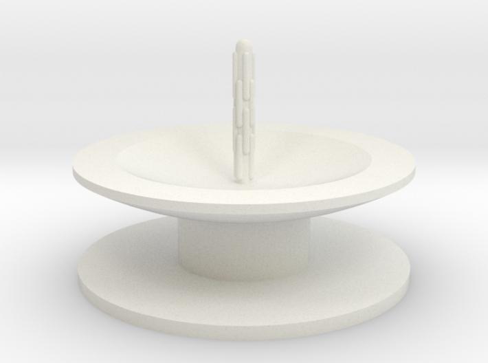 Zierbrunnen schalenförmig mit Bodenplatete mit 1 F 3d printed