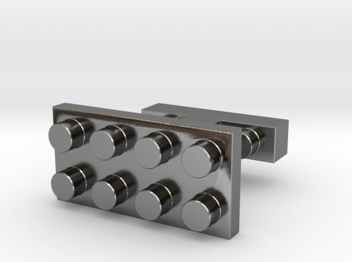 SCULP® Lego Sculpture Classic Cufflinks Rectangle 3d printed