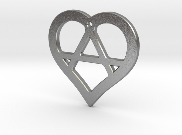 The Wild Heart (precious metal pendant) 3d printed