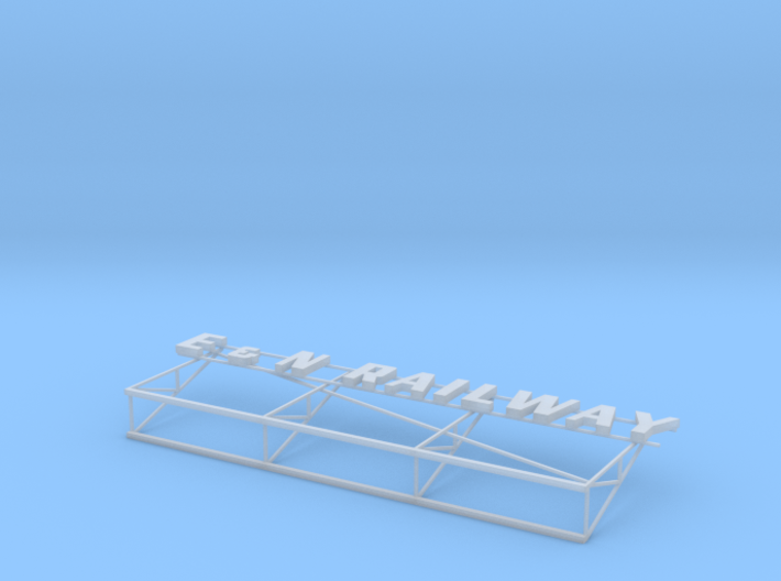 E&N Railway Victoria Station Roof Sign 3d printed