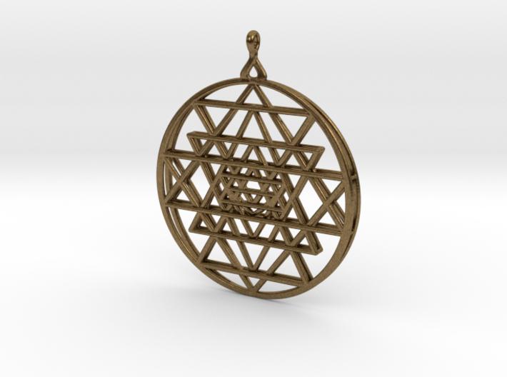 2.5D Sri-Yantra 4.5cm (Raw Metals) 3d printed