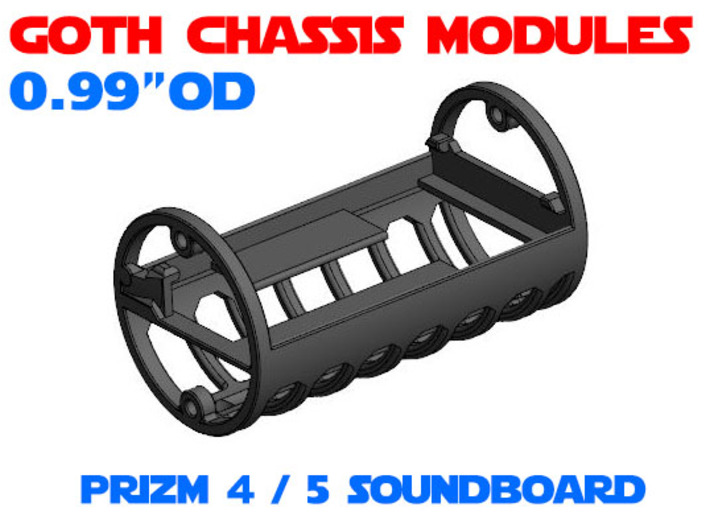 GCM099 - PRIZM 5 soundboard chassis 3d printed