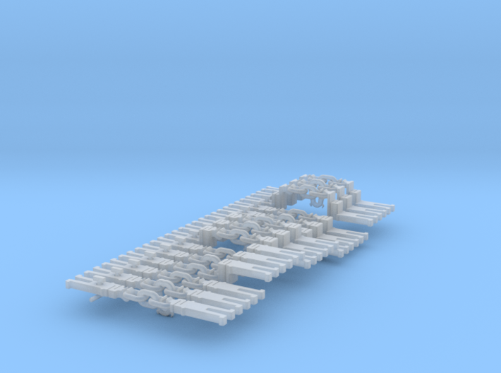 NEM OO 3 Link & Instanter Couplings - Adv'd Sample 3d printed