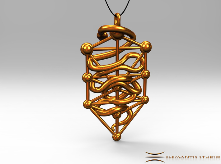 Kabbalah Serpent Pendant 4.5cm 3d printed Pendant cord not included