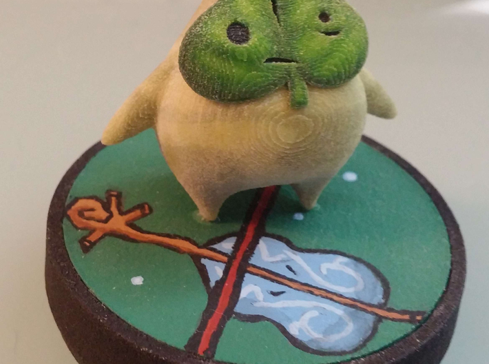 Hobbyist Base (pt 2/2) Suitable for custom Amiibo 3d printed an example of Nendoroid painted by Alormar (see below for links!)