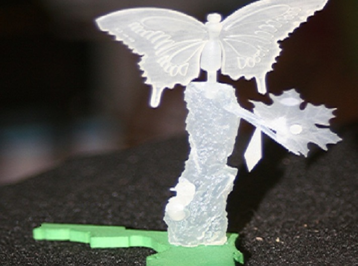 Life Of A Butterfly4 3d printed finished product unpainted