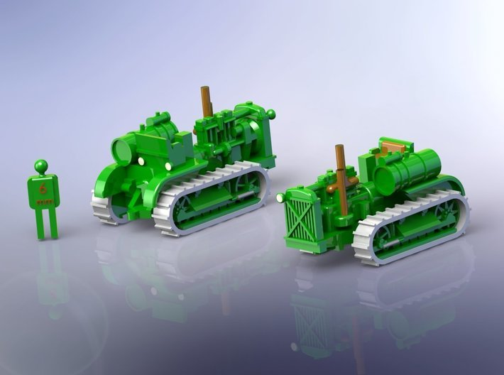 Sovjet Stalinetz S-60 Full Tracked Tractor 1/144 3d printed
