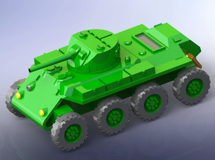 """US T13 """"Trackless Tank"""" Heavy Scout Car 1/144 3d printed"""