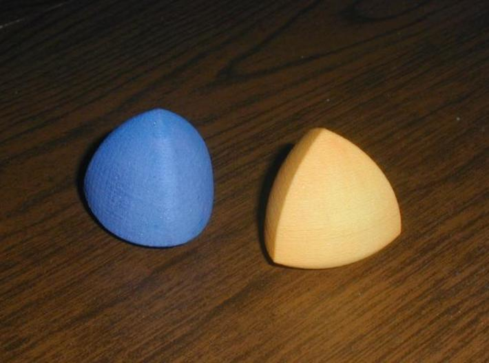 Meissner Tetrahedra 3d printed Printed in WSF, then dyed with fabric dye.