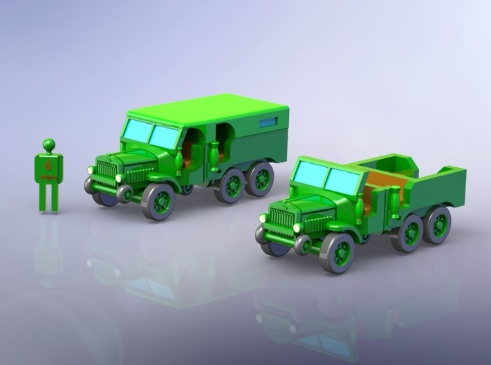 French Laffly S 20 TL Dragoon Truck 1/200 3d printed