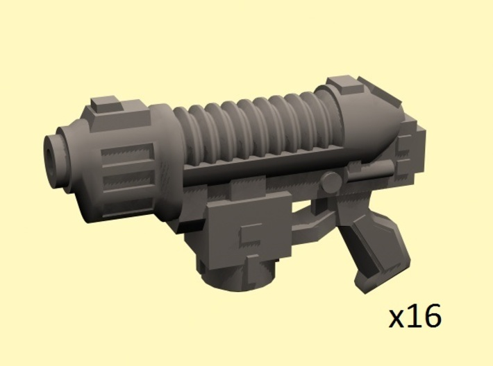 28mm SciFi Scorching pistols x16 3d printed