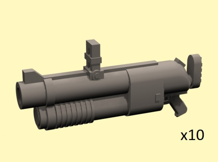 28mm grenade hand launchers 3d printed