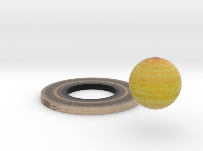 Saturn and Ring 3d printed